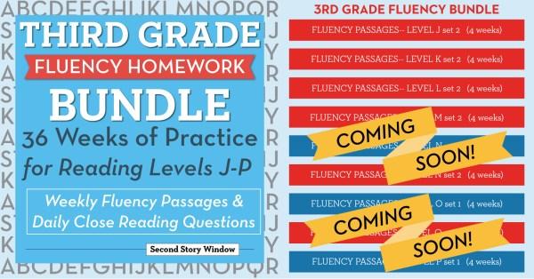 3rd Grade Fluency Homework