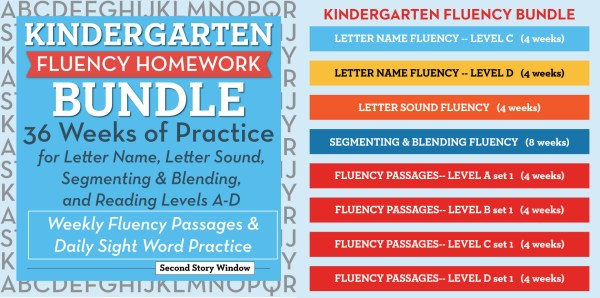 Kindergarten Fluency Bundle