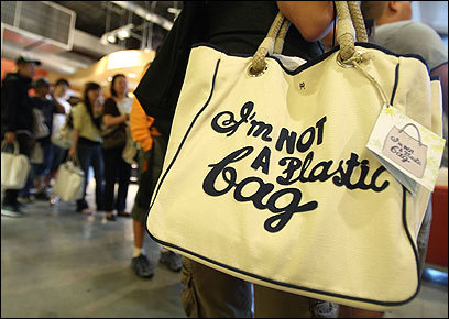 """I'm not a plastic bag"" bag"