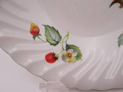 "1950s Old Foley English Bone China Charming ""Strawberry"" Coupe Cereal Bowl - 4 Available"