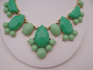 Kate spade necklace green black clear rhinestone necklace