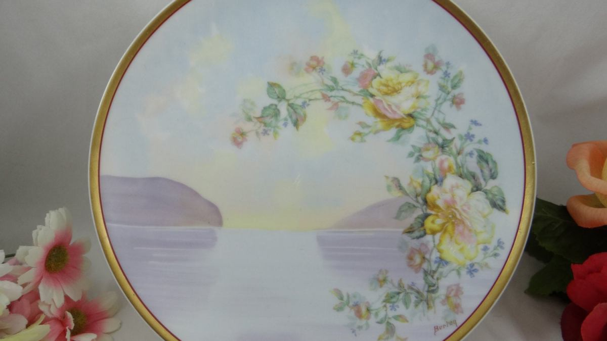 Artist Signed Rare Haviland Limoges Bird Plate  Hand Painted Plate Signed By Artisan F Burns H/&C L Limoges China Hand Painted Limoges