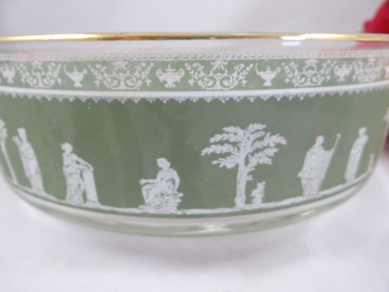 Vintage Jeanette Glass Hellenic Pattern Bowl