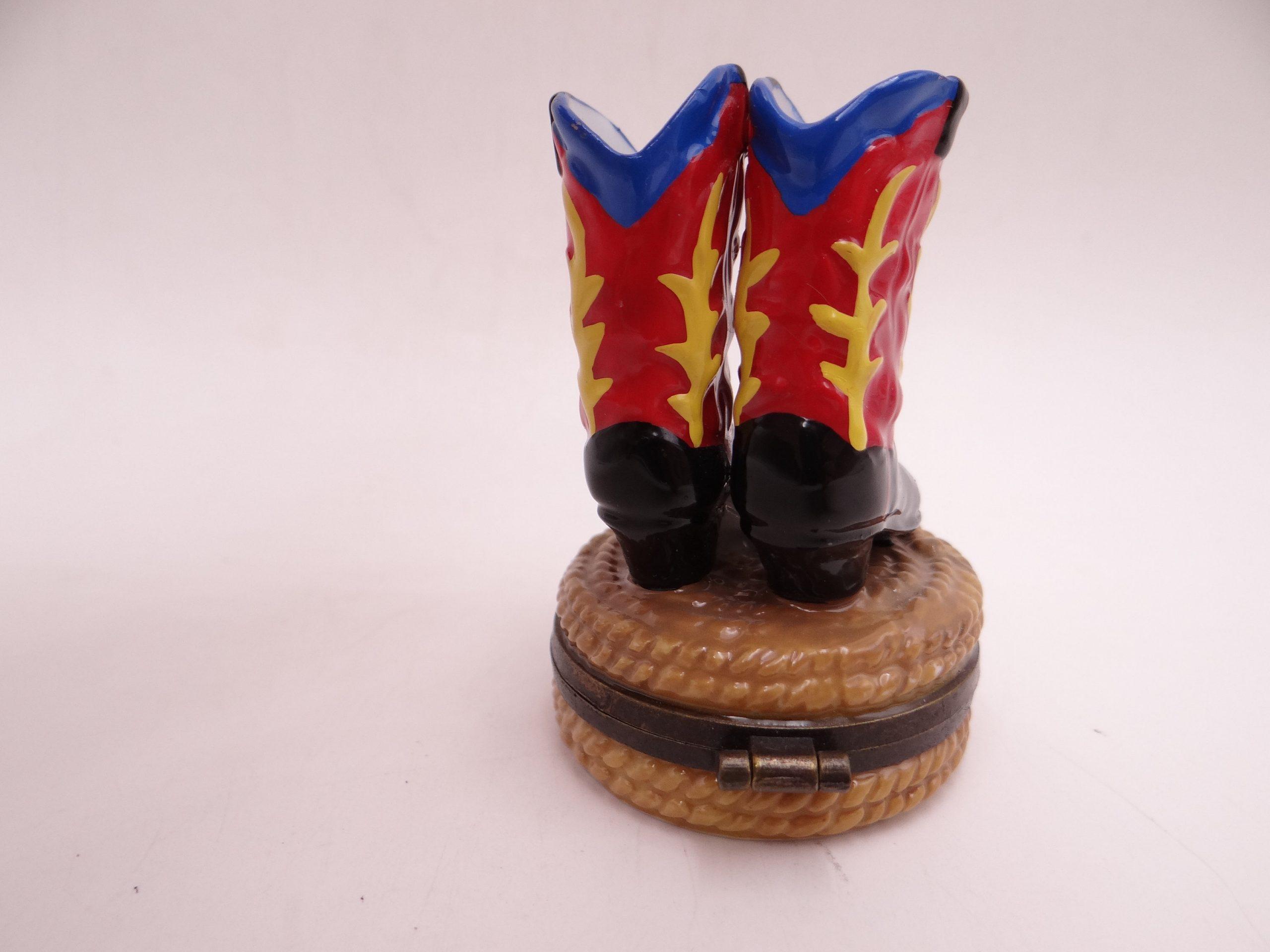 Vintage Cowboy Boots Trinket Box Or Pill Box Second Wind Vintage