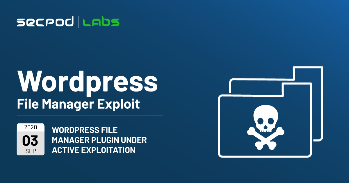 WordPress File Manager Plugin Under Active Exploitation