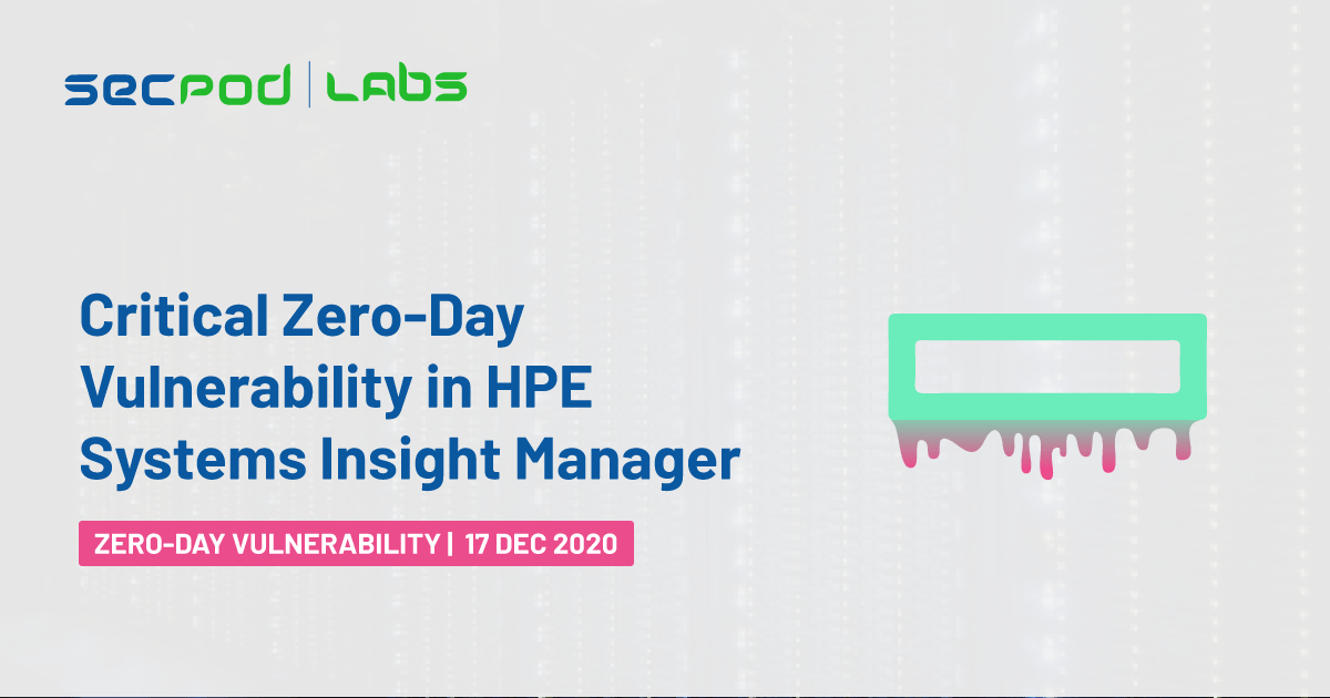 Critical Zero-Day in HPE Systems Insight Manager Revealed