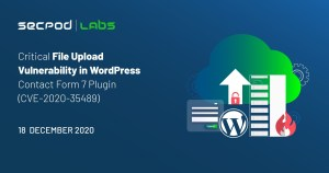 Read more about the article WordPress Plugin Contact Form 7 Critical File Upload Vulnerability (CVE-2020-35489)