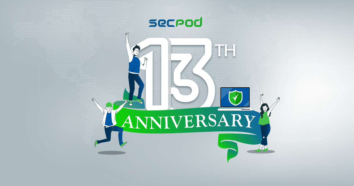 You are currently viewing 13 Years of Life at SecPod – While we were at building a great cyber security platform