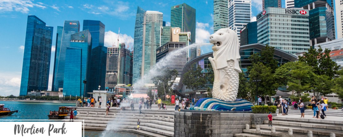 Singapore day one itinerary- Merlion Park