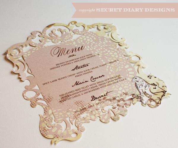 Laser Cut Birdcage Wedding Invitations