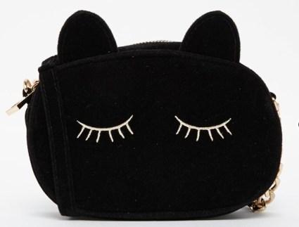 sleeping cat cross body bag