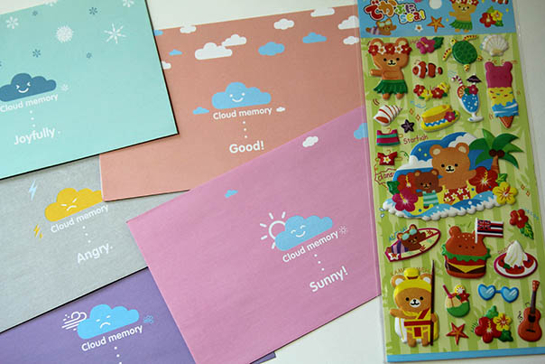 letter and stickers
