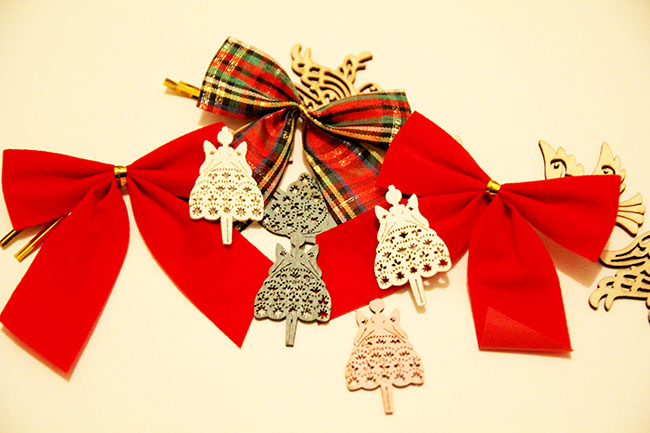 bows crafts for advent calendar