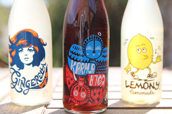 karma cola bottle design close up