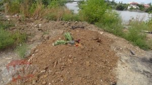 The place where the lifeless body of little Ionut had been found - 1,5 kms away from the park