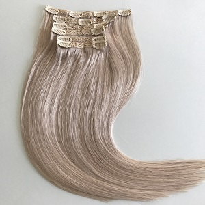 clip in hair extensions silver remy hair