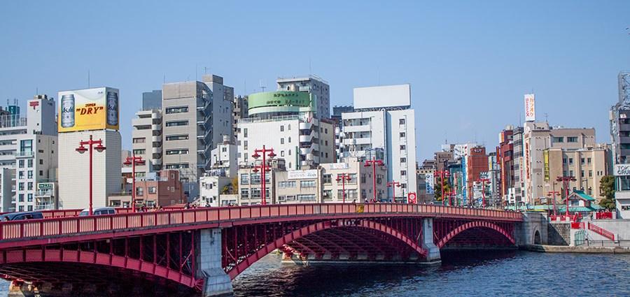 Река Сумида и мост Азуми
