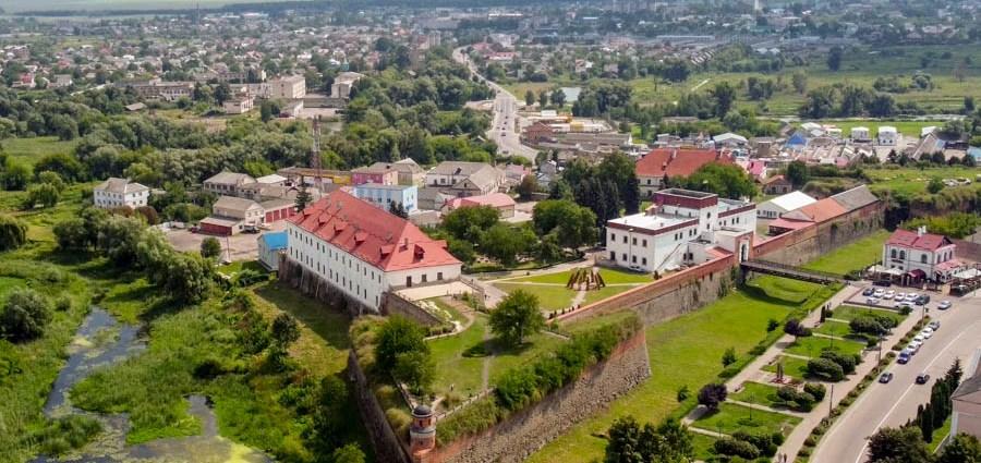 Замок Дубно с дрона