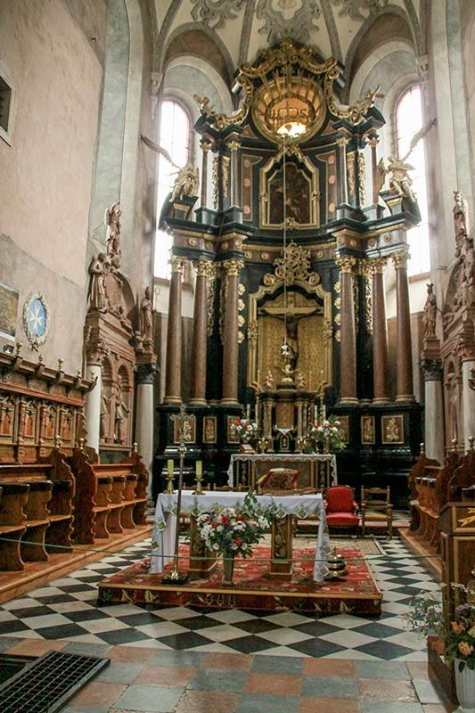 Интерьер костела Святого Лаврентия