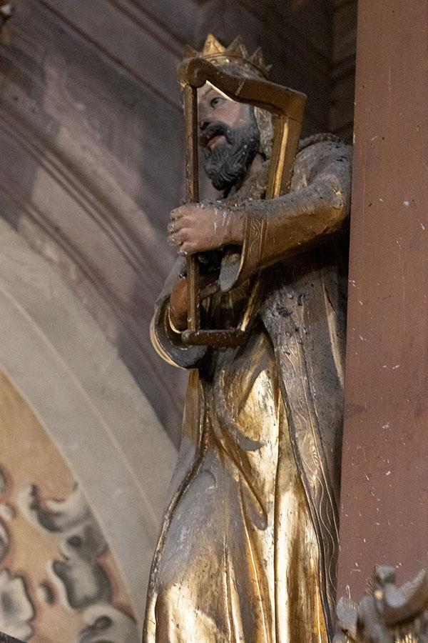 статуя царя Давида Псалмопевца