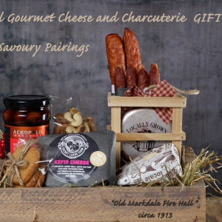 Cheese + Charcuterie gift box $100