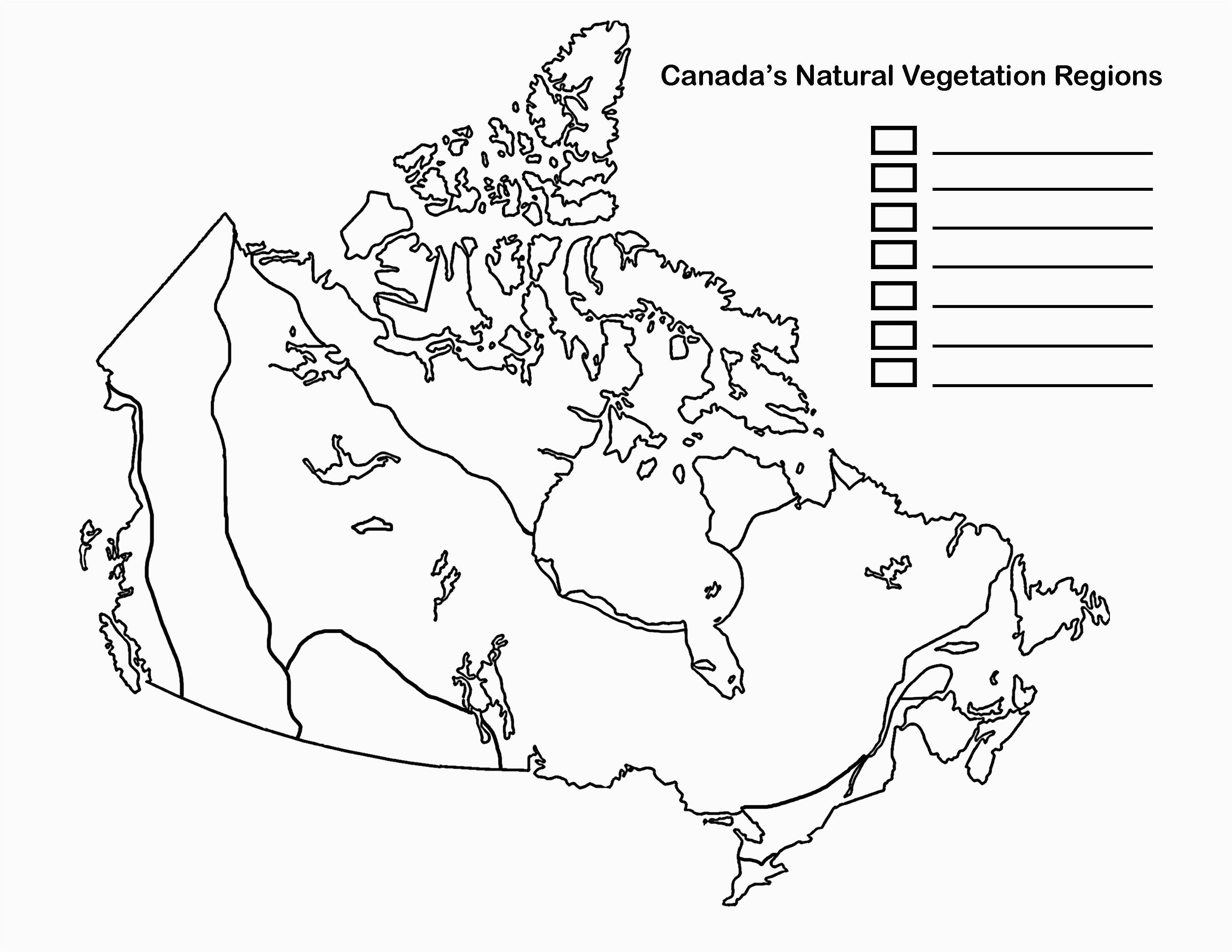 Unlabelled Map Of Canada