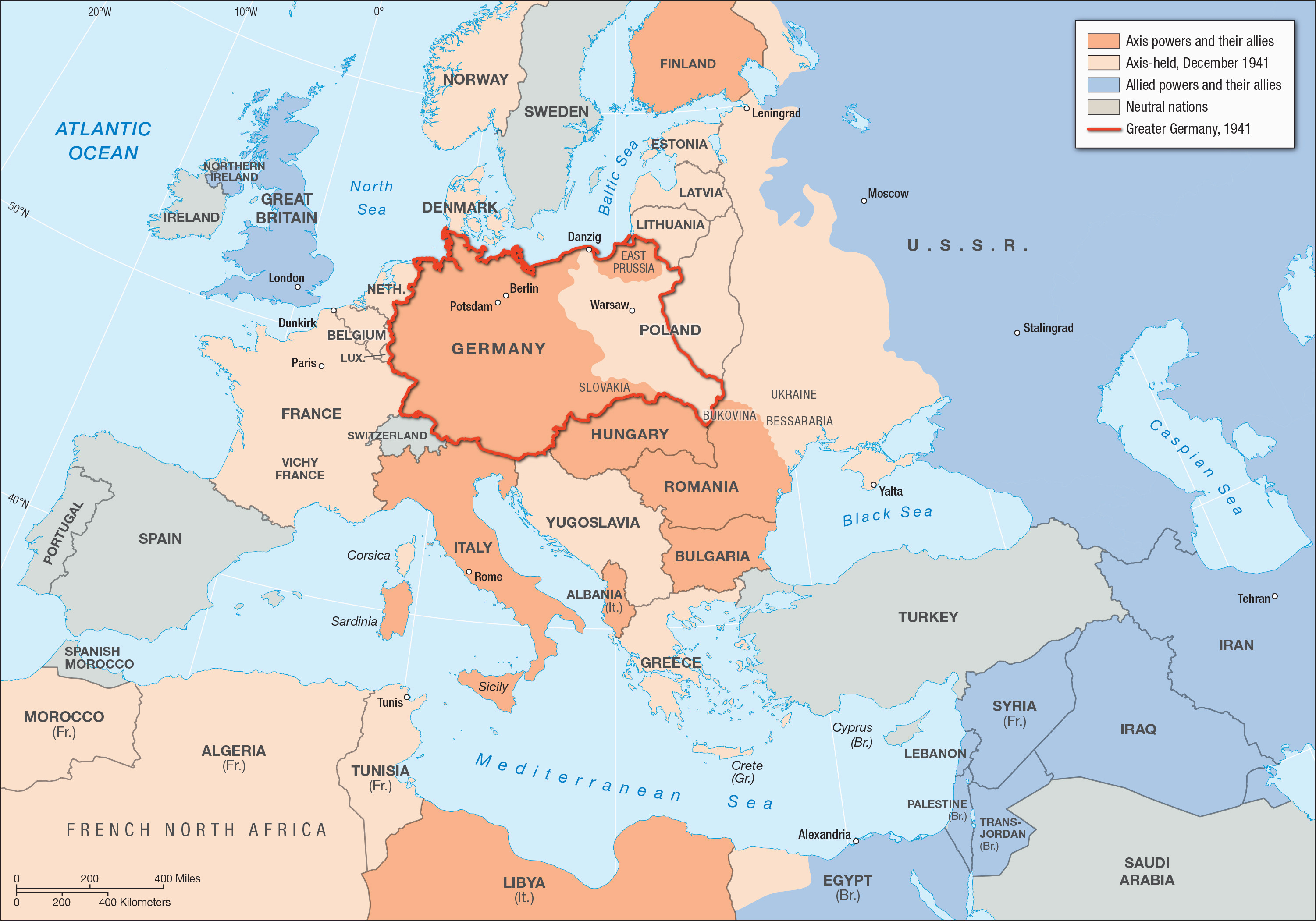 50 World War Ii In Europe And North Africa Map