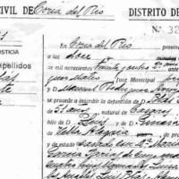 Sentencia dictada en 1940 contra Blas Infante (y certificado de defunción)