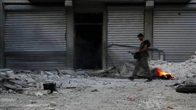 Soldado sirio en Aleppo