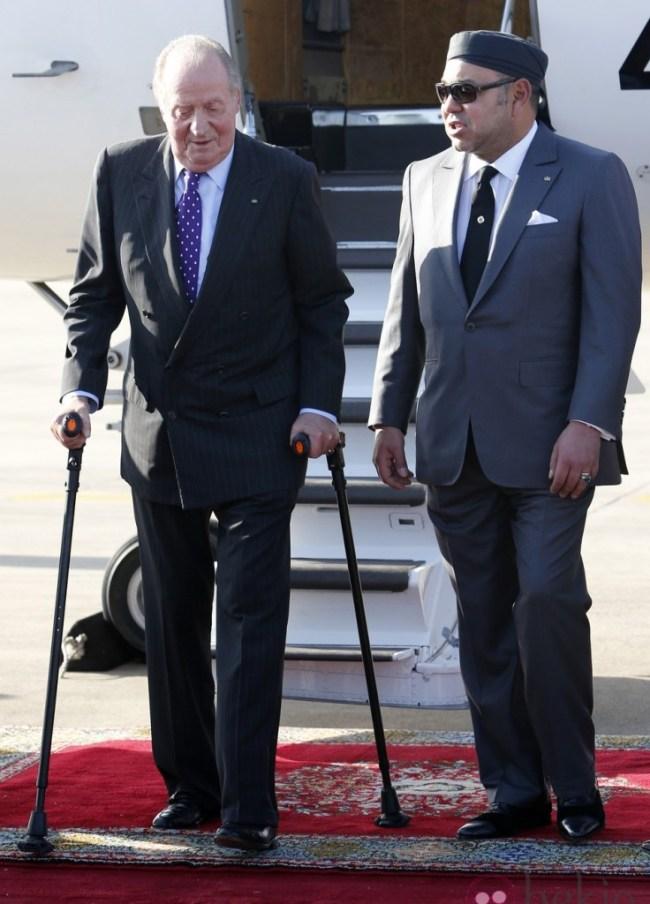 El rey Juan Carlos I junto al rey Mohamed VI