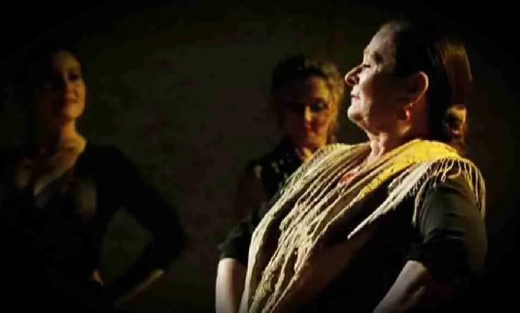 Maite Coral durante Flamenco, de Carlos Saura