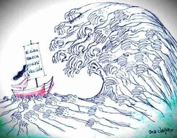 Mi alma nunca será vencida. Ilustración de Doaa El Adel