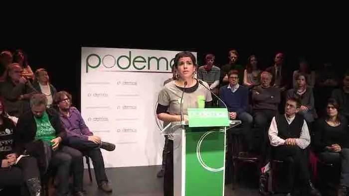 Teresa Rodríguez, candidata de Podemos a la Junta de Andalucía. Foto de Podemos