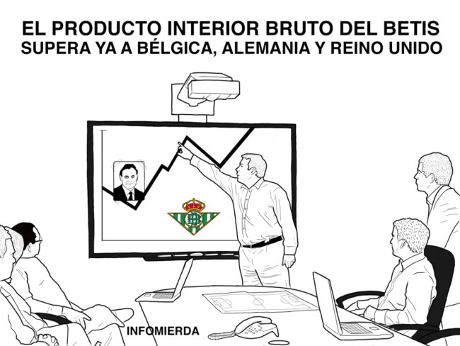 El producto interior bruto del Betis supera ya a Bélgica, Alemania y Reino Unido. Infomierda