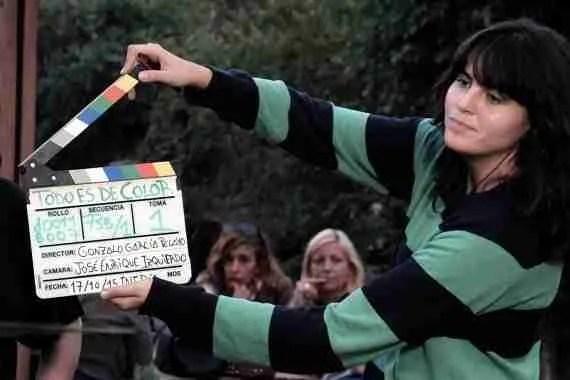 Rodaje de Todo es de Color película de Gonzalo García Pelayo sobre Triana