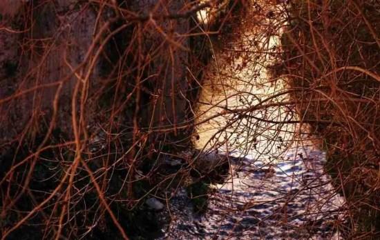 El río Darro a la altura del Paseo de los Tristes