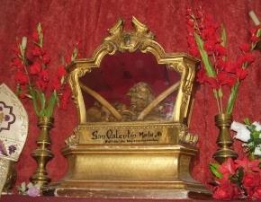 Supuestas reliquias de San Valentin que descansan en la Iglesia de San Antón, en Madrid