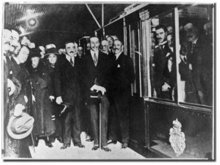 Альфонс XIII на торжественном открытии метро Мадрида