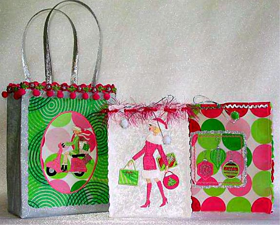 Girly Gift Bags by A Bit of Stitch. Materials You Will Need: