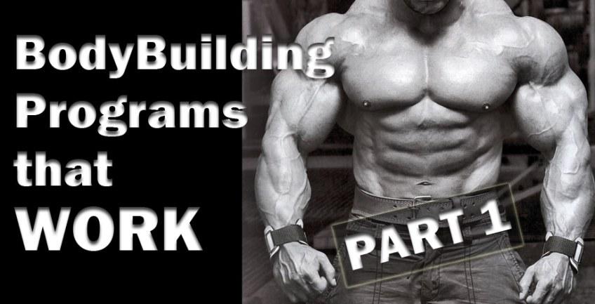 BodyBuilding Programs that WORK Part 1