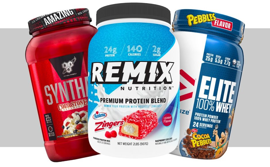 Synth-6, Remix, and Dymatize Elite Whey