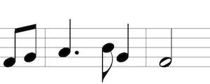 Star-Spangled Banner, last 2 bars