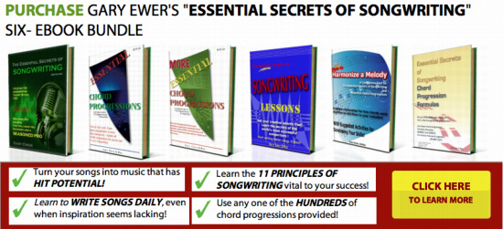 """Purchase """"The Essential Secrets of Songwriting"""" 6 Ebook Bundle"""