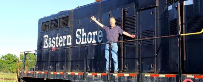 Jim Duffy on Eastern Shore Train (JJP)