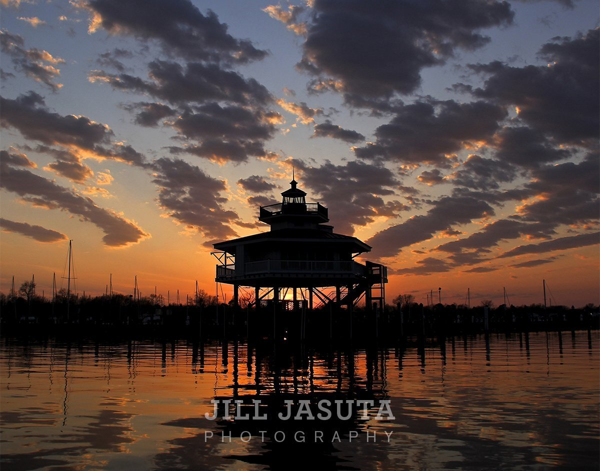 Choptank River Lighthouse at Sunset (JJP)