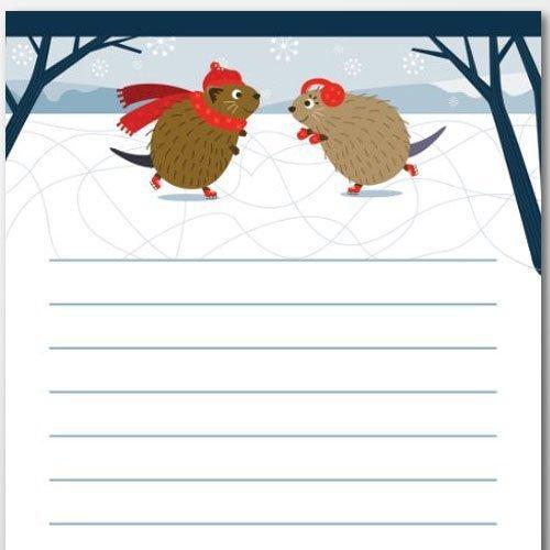 Marty & Marsha Winter Notepad