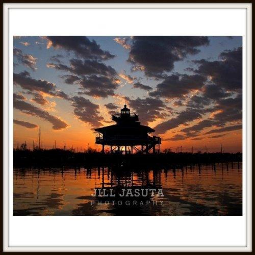 Lighthouse at Dusk Photo Print
