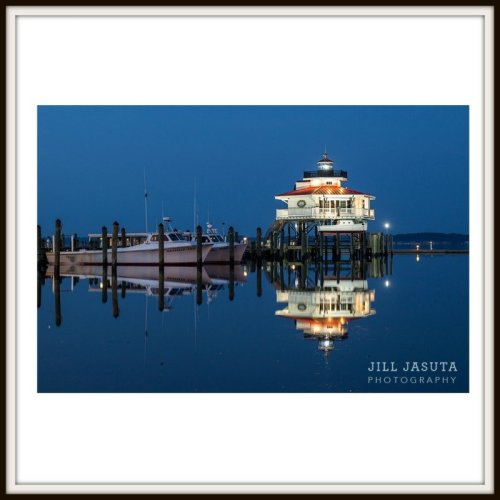 Lighthouse at Twilight Photo Print PRODUCT