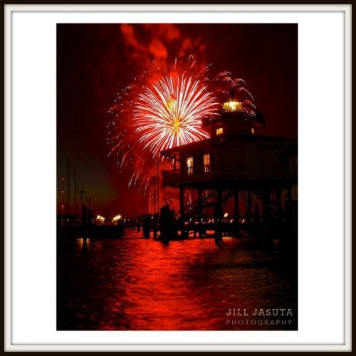Rocket's Red Glare at the Choptank River Lighthouse
