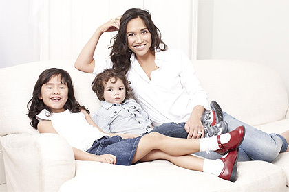 Myleene Klass, the brand ambassador (Image:start rite)